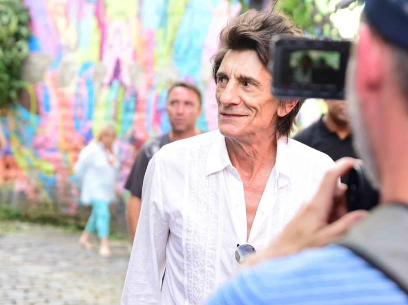 Ron Wood, no Beco do Batman, em São Paulo
