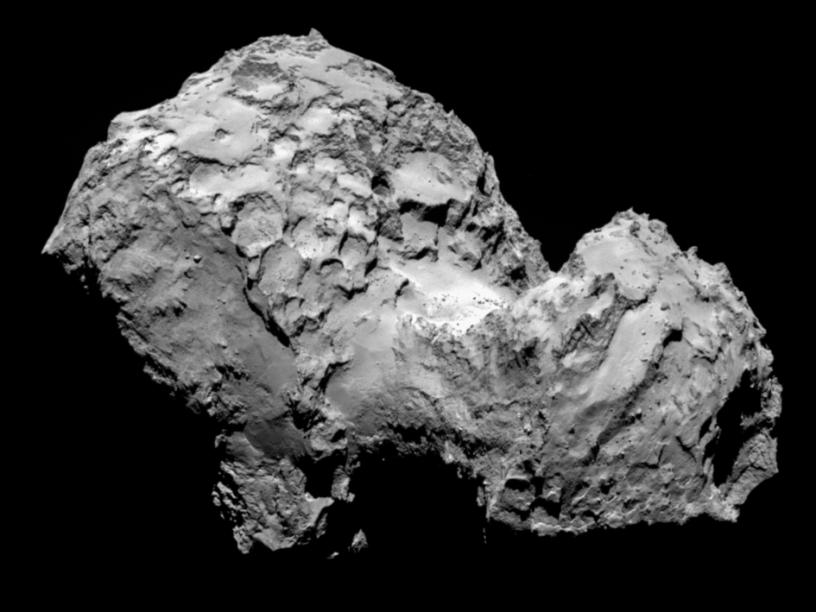 Cometa 67P/Churyumov-Gerasimenko a 285 quilômetros de distância, no dia 3 de agosto