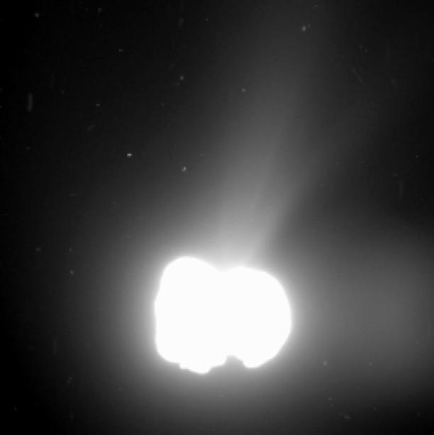 O cometa no dia 2 de agosto, a 550 quilômetros