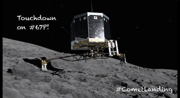 Imagem divulgada pela ESA no twitter da missão Rosetta