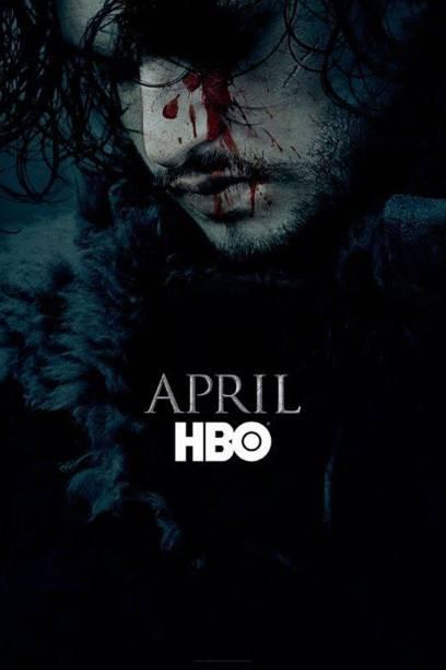 Pôster da sexta temporada de Game of Thrones, da HBO