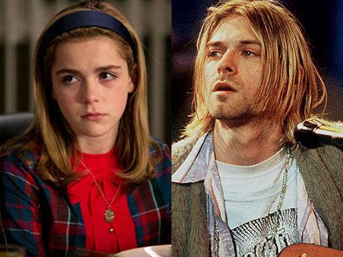 A personagem Sally Draper, de Mad Men, e o músico Kurt Cobain