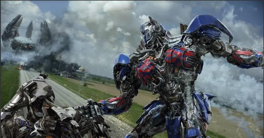 Cena do filme Transformers: A Era da Extinção