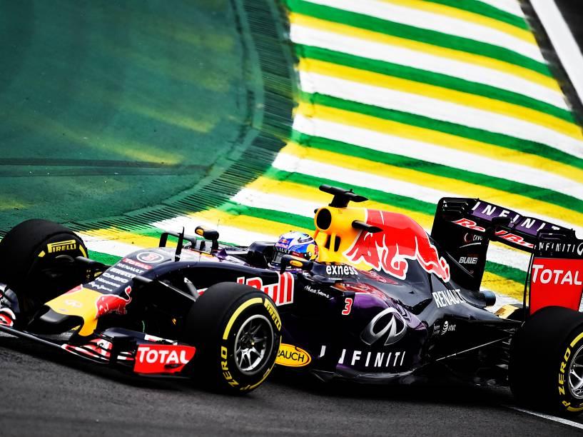 Daniel Ricciardo durante os treinos de sexta