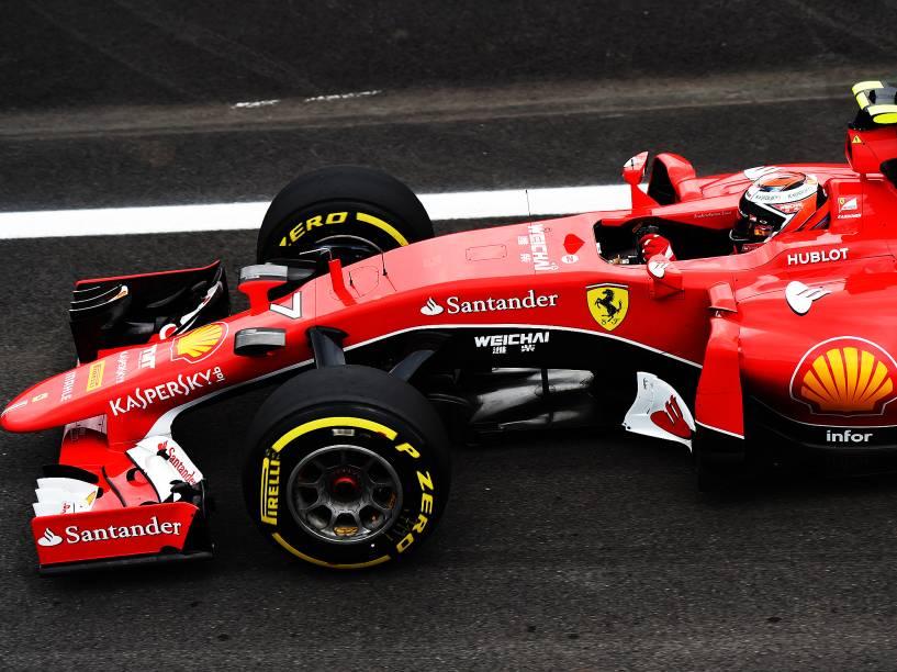 O finlandês Kimi Raikkonen na F1 em Interlagos