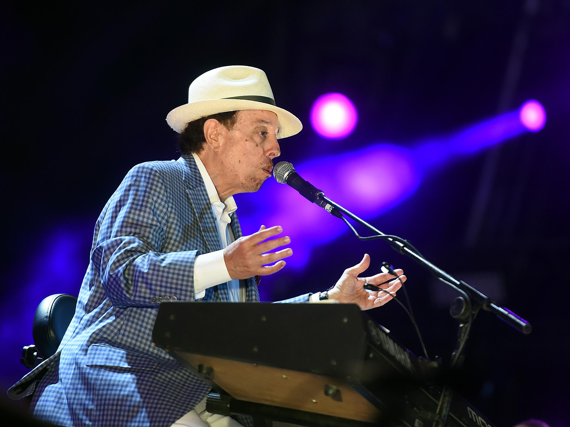 Show do cantor Sérgio Mendes no 6º dia de Rock in Rio, no palco Sunset, na Cidade do Rock, em Jacarepaguá, na zona oeste da capital fluminense, neste sábado (26)