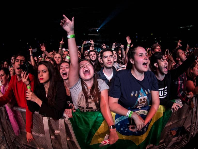 Público vai ao delírio durante show da banda Muse no Allianz Parque, em São Paulo