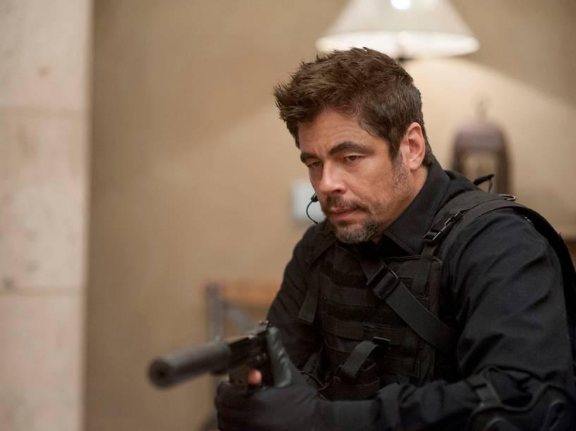Benicio Del Toro no filme 'Sicario: Terra de Ninguém'