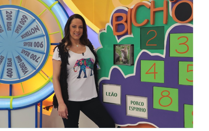 Silvia Abravanel no programa Bom Dia & Cia, do SBT
