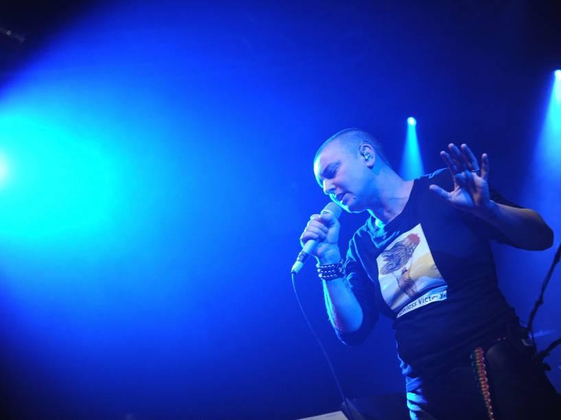 Sinead OConnor faz show no Highline Ballroom na cidade de Nova York