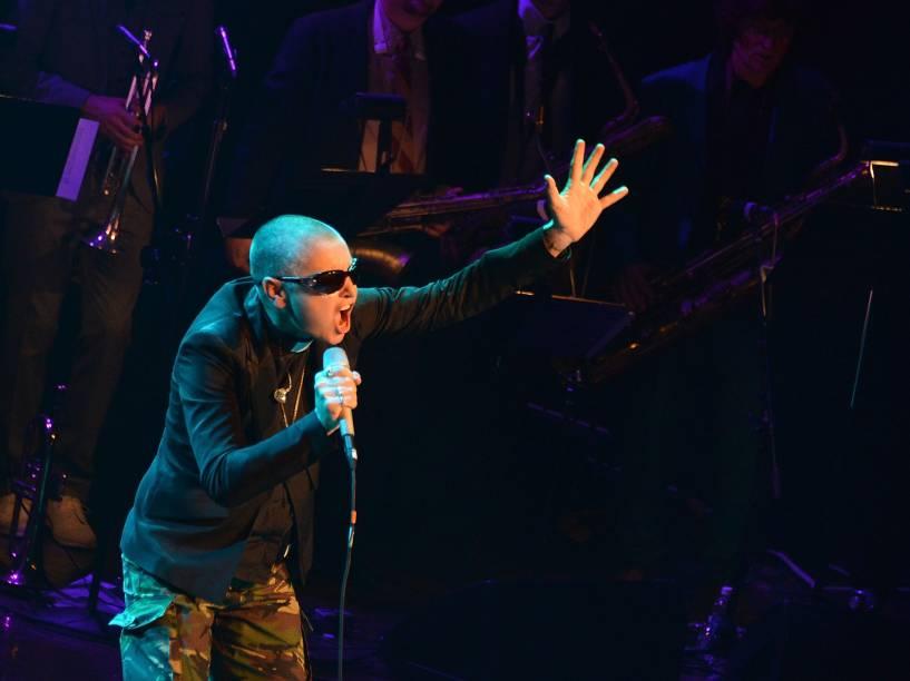 Cantora Sinead OConnor faz show no Lincoln Center, em Nova York
