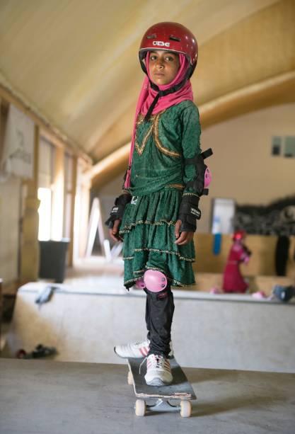 50% de todos os mais de 1.000 alunos da Skateistan são meninas