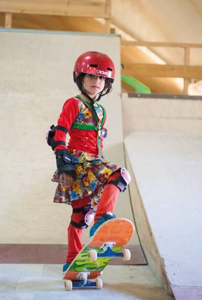 Para Jessica, o skate está mostrando ao mundo a força, determinação e entusiasmo das meninas afegãs