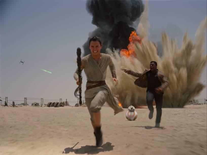 Cena do filme 'Star Wars: Episódio VII - O Despertar da Força'