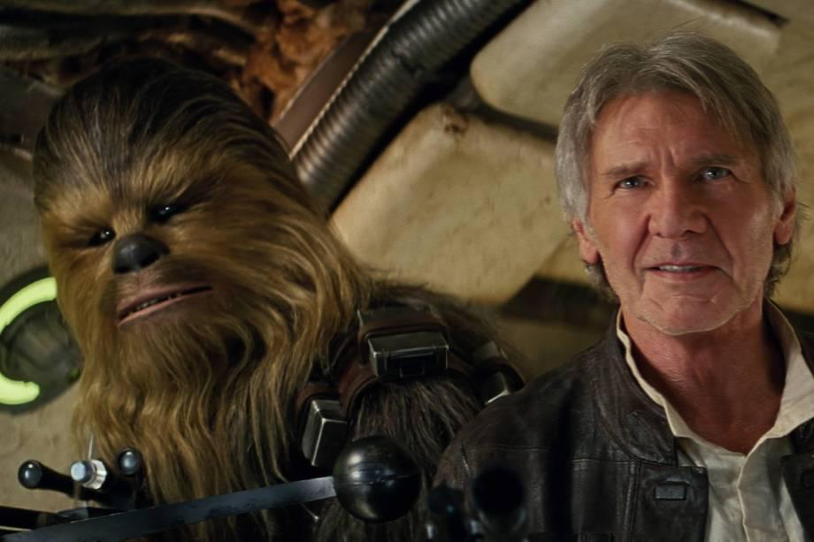 Han Solo (Harrison Ford) e Chewbacca (Peter Mayhew) no segundo teaser de Star Wars