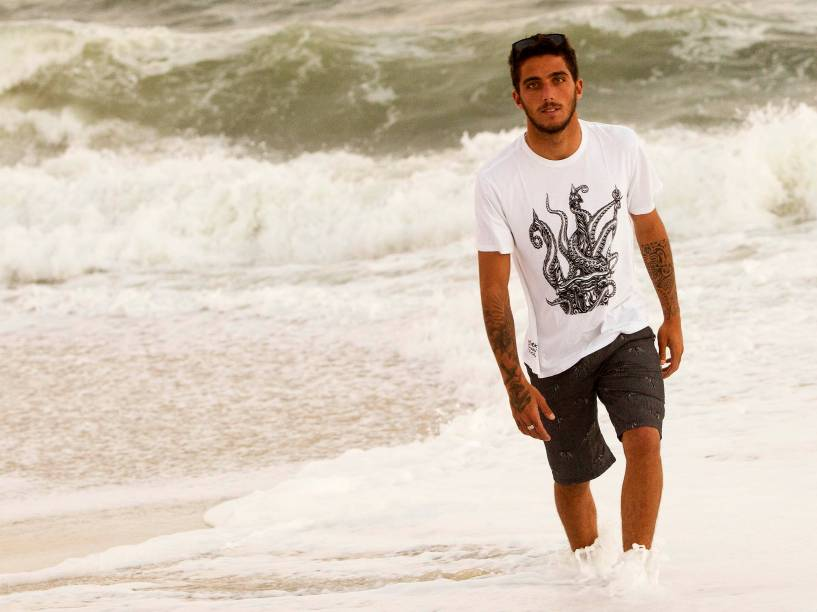 Filipe Toledo, no Rio de Janeiro, para a etapa brasileira do Circuito Mundial de Surfe