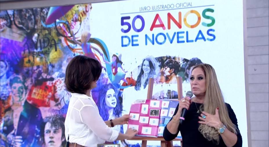 Susana Vieira, em participação no Encontro com Fátima Bernardes, na Globo