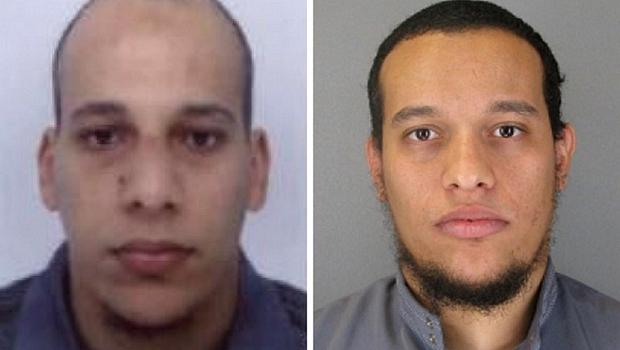 Cherif Kouachi e Said Kouachi, dois dos três suspeitos do ataque à revista Charlie Hebdo