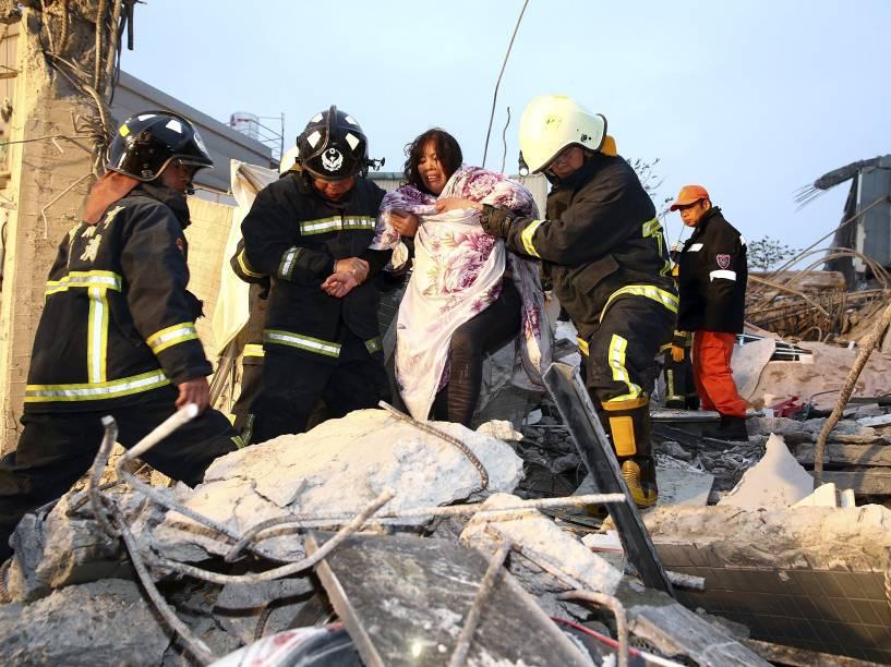 Um terremoto de magnitude 6,4 atingiu o Taiwan