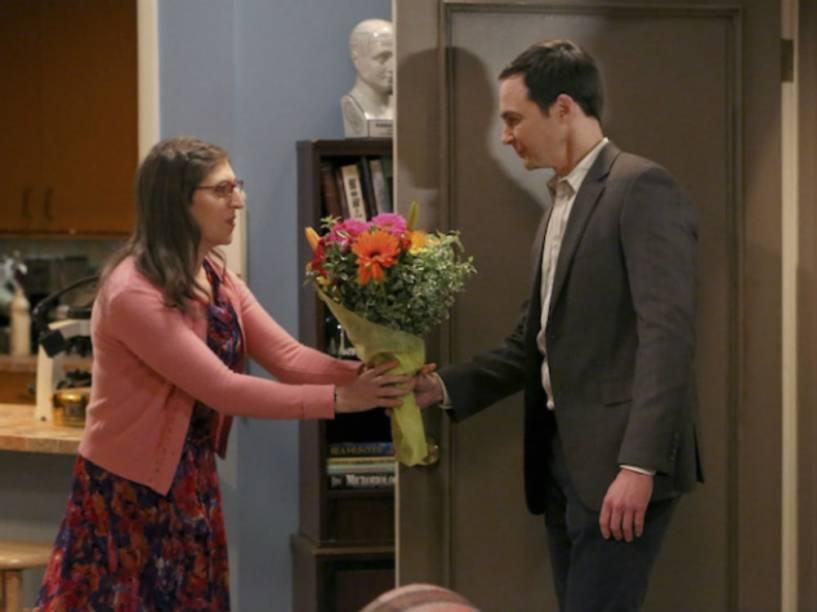 Cena do episódio 11 da nona temporada de The Big Bang Theory, que foi ao ar nos Estados Unidos em 17 de dezembro