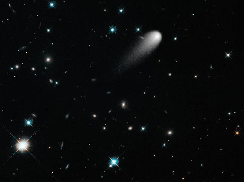 <p>O cometa Ison visitou o Sistema Solar pela primeira e única vez em 2013, e então foi destruído ao se aproximar do Sol</p>