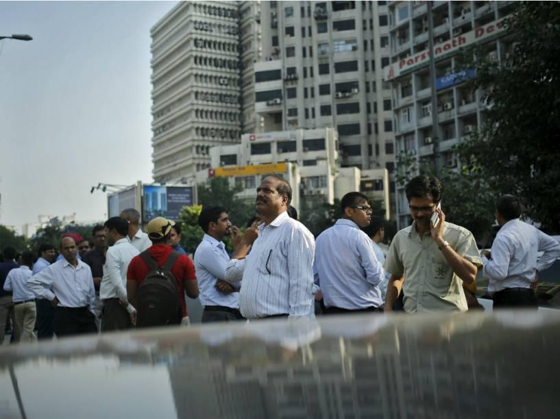 Por precaução, trabalhadores deixaram os prédios do centro de Nova Délhi após o tremor