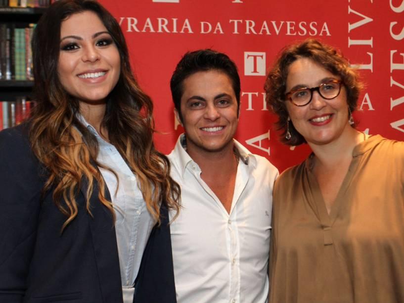 Thammy Miranda, a namorada, Andressa Ferreira, e a autora de sua biografia, Marcia Zanelatto