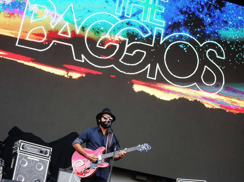 A banda The Baggios no primeiro dia do Festival Lollapalooza 2016 que ocorre em São Paulo-SP neste sábado (12) no Autódromo de Interlagos Zona Sul da Capital