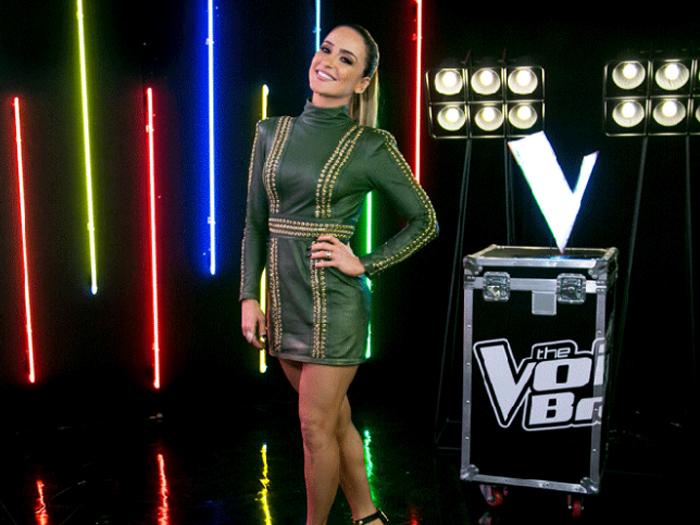 A cantora Claudia Leitte, na última noite de batalhas do The Voice Brasil