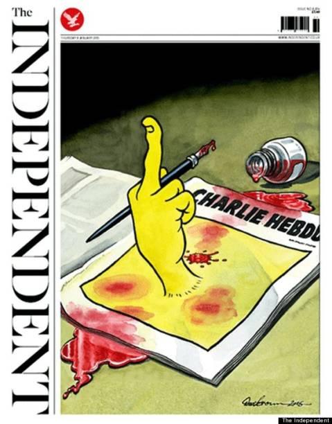 Capa da edição desta quinta-feira do jornal inglês The Independent