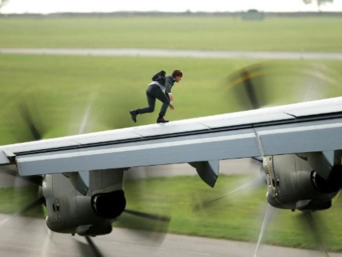 Tom Cruise em Missão Impossível: Nação Secreta, quinto filme da franquia
