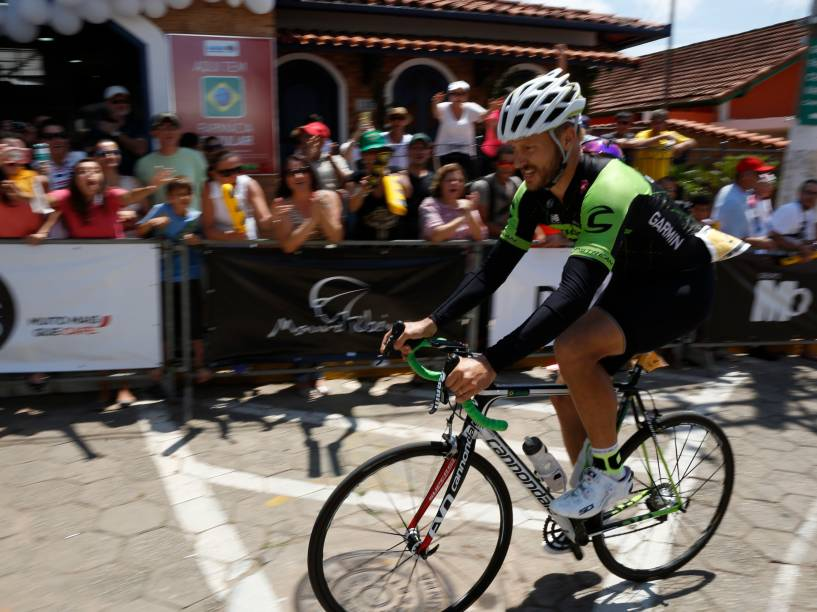 O ator e apresentador Rodrigo Hilbert durante a L'Étape Brasil by Le Tour de France em Cunha (SP)
