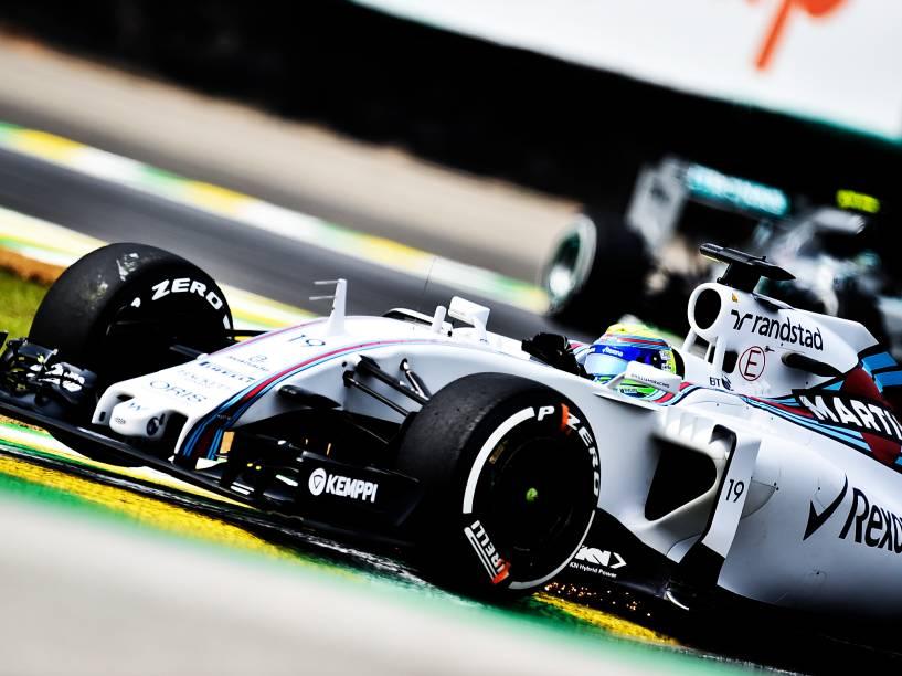 Felipe Massa, da Williams, durante os treinos livres para o GP do Brasil de F-1, no circuito de Interlagos