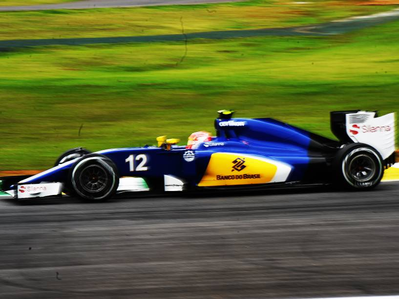 Felipe Nasr, durante os treinos livres para o GP do Brasil de F-1, no circuito de Interlagos