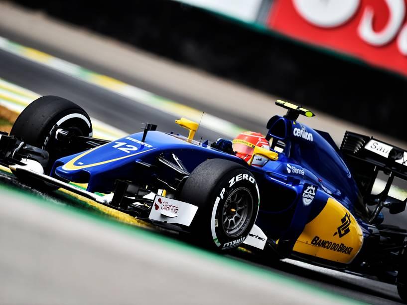 Felipe Nasr,  durante os treinos livres para o GP do Brasil de F-1
