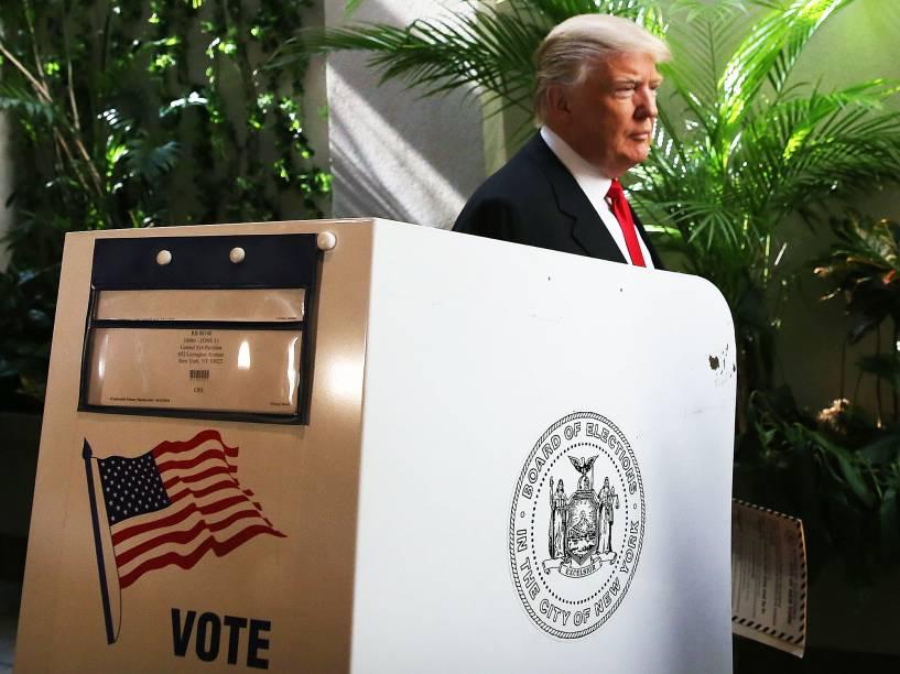 Donald Trump vota para as primárias em seu estado natal, Nova York - 19/04/2016