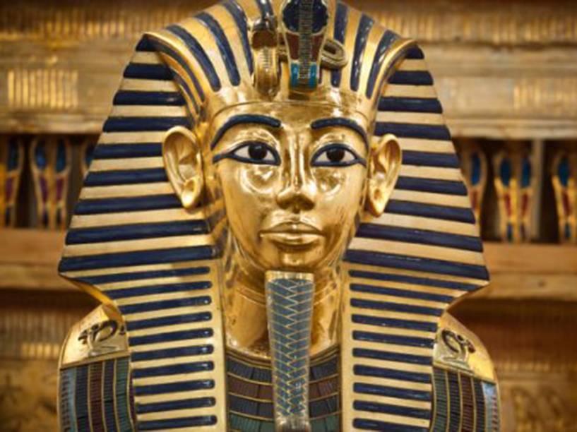 <p>Máscara funerária de Tutancâmon </p>
