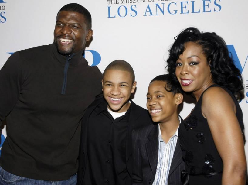 Tyler James Williams em 2006 com seus companheiros de elendo em Todo Mundo Odeia o Chris: Terry Crews, Tequan Richmond e Tichina Arnold