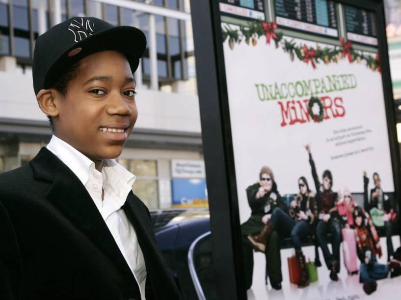 Tyler James Williams na premiere do filme Menores Desacompanhados, em 2006