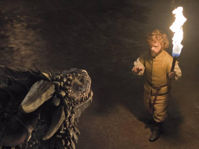 Tyrion (Peter Dinklage) encontra os dragões de Daenerys na sexta temporada de Game of Thrones
