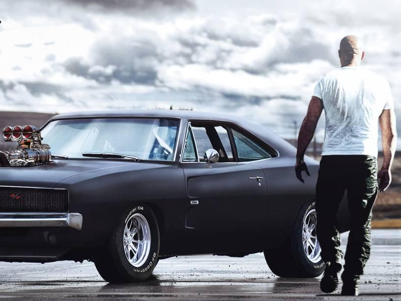 Vin Diesel no filme Velozes e Furiosos 7