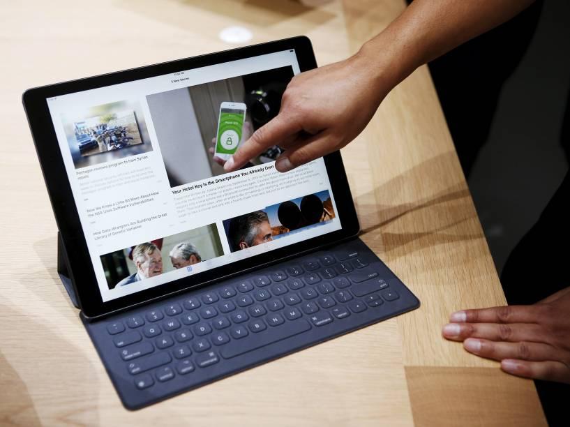 Novo iPad Pro da Apple em exposição para o público após evento de lançamentos da companhia, em São Francisco, na Califórnia - 09/09/2015