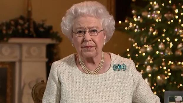A rainha Elizabeth II em seu discurso de Natal