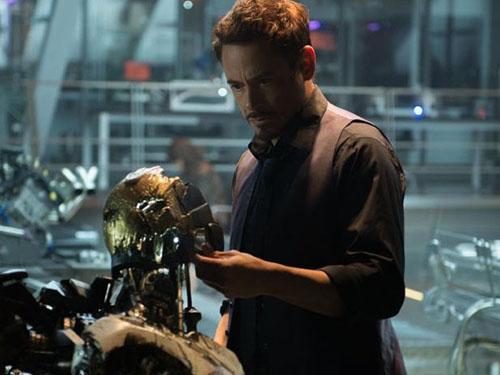 Tony Stark (Robert Downey Jr.), o Homem de Ferro, em cena do filme Os Vingadores: A Era de Ultron