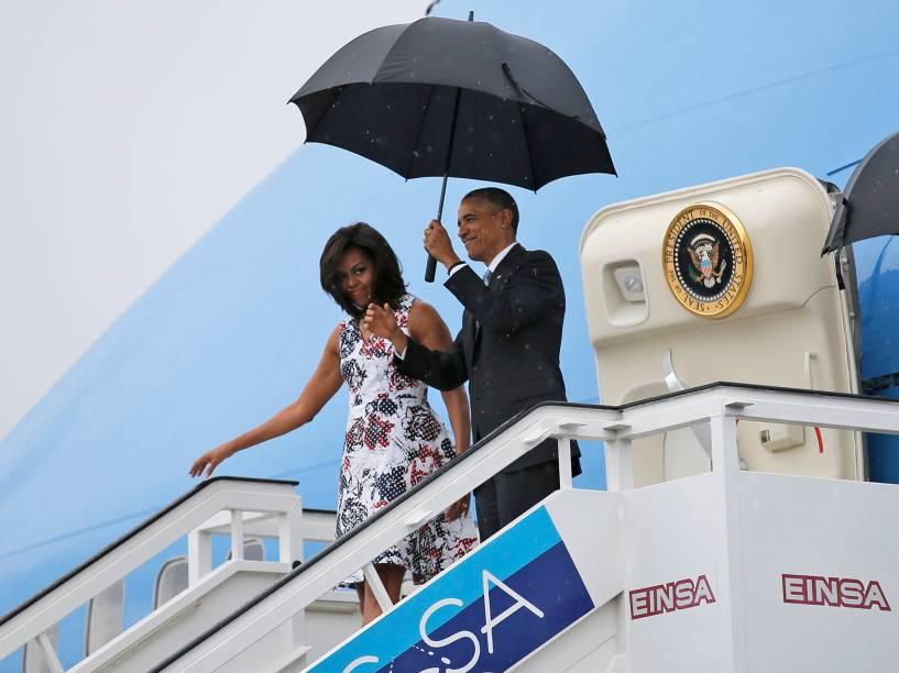 O presidente Barack Obama chega a Cuba em visita história