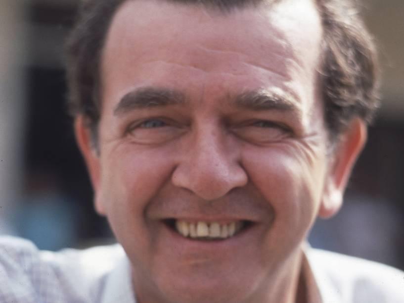 """O ator Umberto Magnani durante a gravação da novela """"Felicidade"""", TV Globo"""