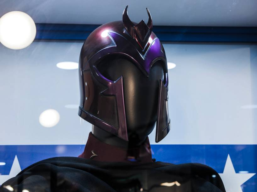 Capacete de Magneto (Ian Mckellen) na X-Men Filmes Expo
