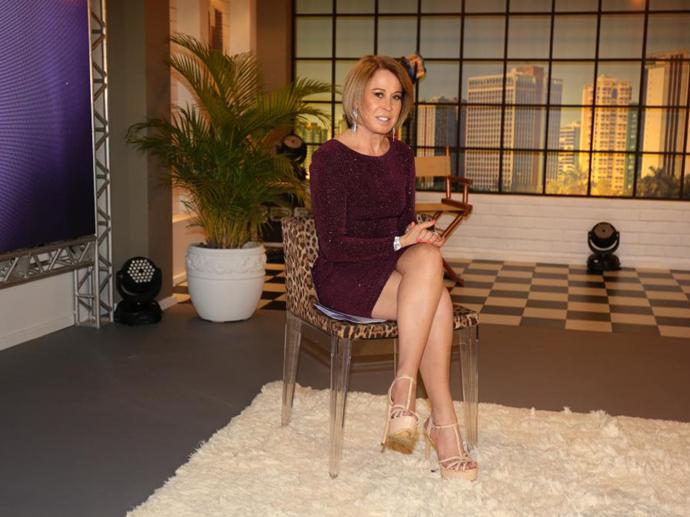 Zilu Godoi e a equipe de Assim Somos, programa que marca a sua estreia como apresentadora