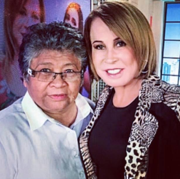Zilu Godói e a empresária Marlene Mattos, sua diretora no programa Assim Somos, do canal pago E+TV