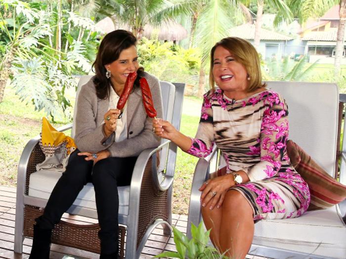 Zilu e Narcisa na gravação do programa Assim Somos: difícil legendar esse encontro